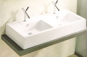 Art Ceram Fuori Box Double Bathroom Sinks