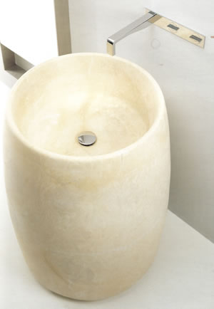 Antonio Lupi Barrel Stone Bathroom Sinks