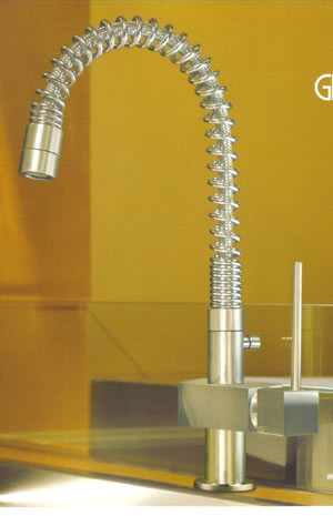 Gessi Quadro Hi-Tech Kitchen Taps