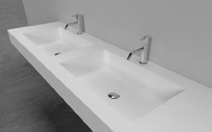 Antonio Lupi Conca Double Bathroom Sinks