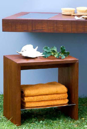 Regia Woode Bathroom Stools