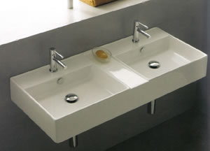 Scarabeo Teorema Double Bathroom Sinks