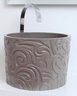 Regia Wallpaper Bathroom Sinks